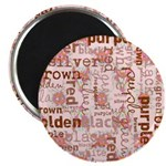 made of words colors brown Magnets