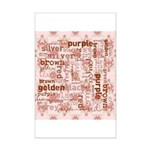 made of words colors brown Posters