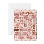 made of words colors brown Greeting Cards