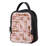 made of words colors brown Neoprene Lunch Bag