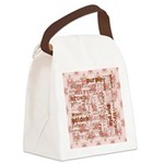 made of words colors brown Canvas Lunch Bag