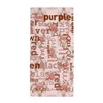 made of words colors brown Beach Towel