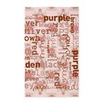 made of words colors brown 3'x5' Area Rug