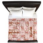 made of words colors brown King Duvet