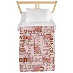made of words colors brown Twin Duvet