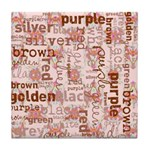 made of words colors brown Tile Coaster
