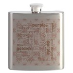 made of words colors brown Flask