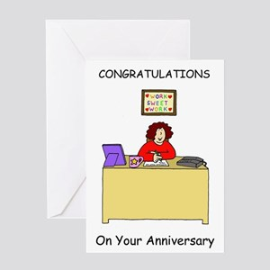 Work anniversary congratulations. Greeting Cards