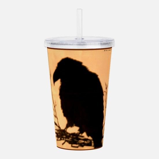 Raven, crow, bird art! Acrylic Double-wall Tumbler