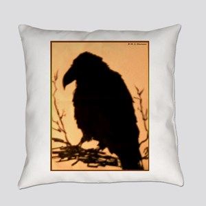 Raven, crow, bird art! Everyday Pillow