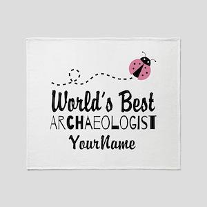 World's Best Archaeologist Throw Blanket