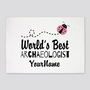 World's Best Archaeologist 5'x7'Area Rug