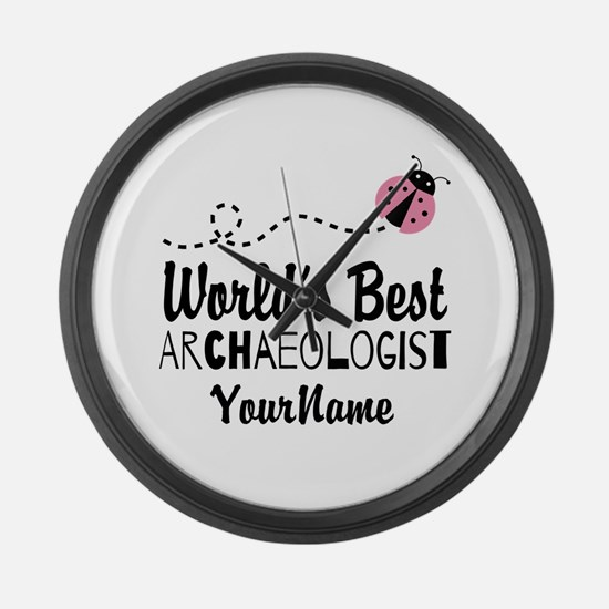 World's Best Archaeologist Large Wall Clock