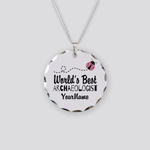 World's Best Archaeologist Necklace Circle Charm
