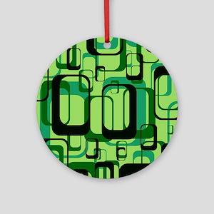 retro pattern 1971 green Ornament (Round)