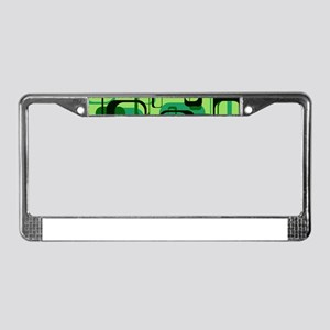 retro pattern 1971 green License Plate Frame