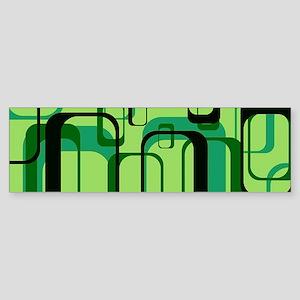 retro pattern 1971 green Bumper Sticker