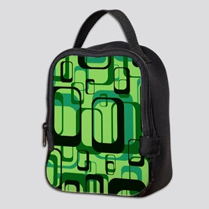 retro pattern 1971 green Neoprene Lunch Bag