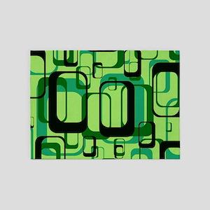 retro pattern 1971 green 5'x7'Area Rug