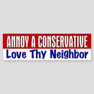 AAC Love Thy Neighbor Bumper Sticker