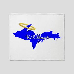 U.P. Blessed w/Halo Throw Blanket