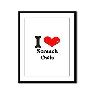 I love screech owls  Framed Panel Print