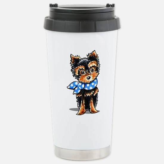 Baby Blue Yorkie Travel Mug
