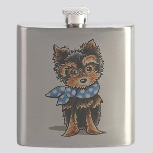 Baby Blue Yorkie Flask