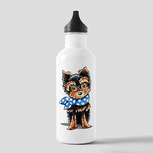 Baby Blue Yorkie Water Bottle