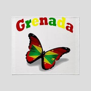Butterfly Grenada Throw Blanket