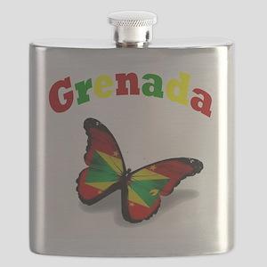 Butterfly Grenada Flask