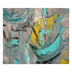Modern Art in turquoise King Duvet