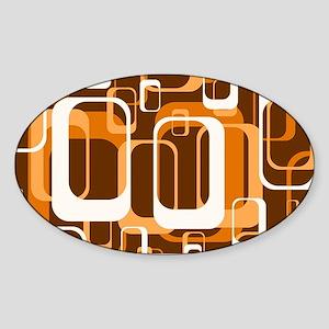 retro pattern 1971 orange Sticker