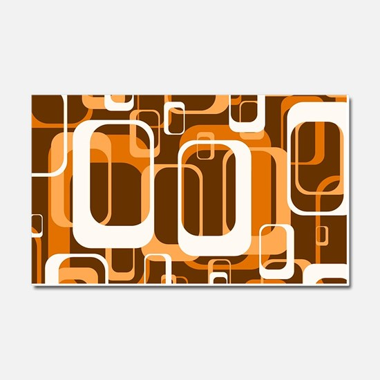 retro pattern 1971 orange Car Magnet 20 x 12