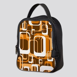 retro pattern 1971 orange Neoprene Lunch Bag