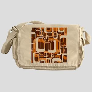 retro pattern 1971 orange Messenger Bag
