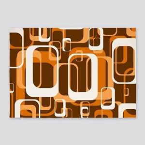 retro pattern 1971 orange 5'x7'Area Rug