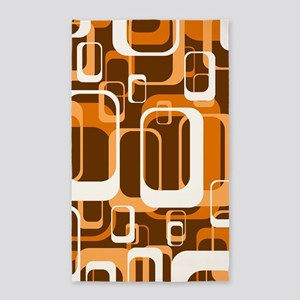 retro pattern 1971 orange 3'x5' Area Rug