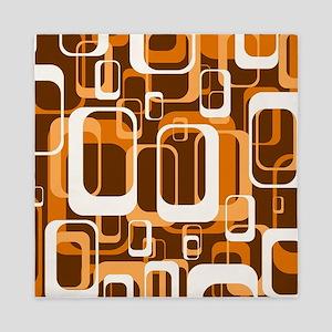 retro pattern 1971 orange Queen Duvet