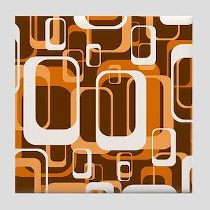 retro pattern 1971 orange Tile Coaster