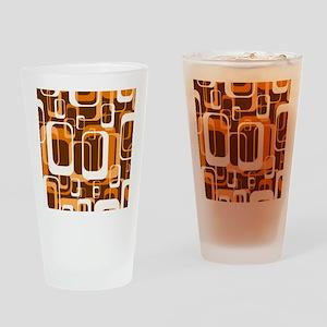 retro pattern 1971 orange Drinking Glass
