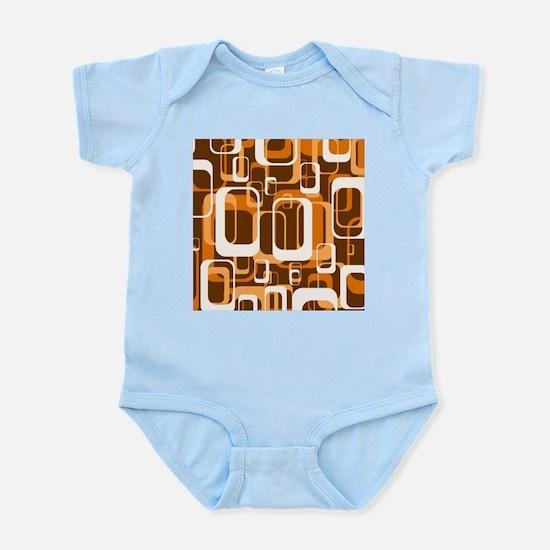 retro pattern 1971 orange Body Suit