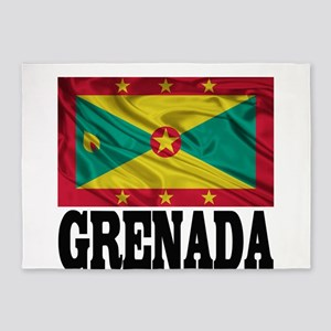 Grenada Flag 5'x7'Area Rug