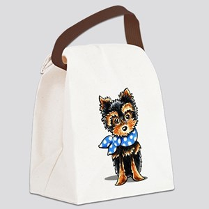 Baby Blue Yorkie Canvas Lunch Bag