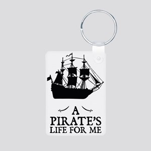 A Pirate's Life For Me Aluminum Photo Keychain