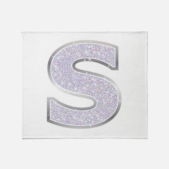 Sparkle Letter S Throw Blanket