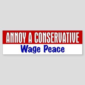 AAC Wage Peace Bumper Sticker