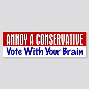 AAC Vote With Your Brain Bumper Sticker