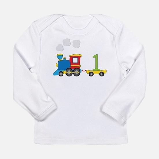 1 Year Old Train Birthday Long Sleeve T-Shirt