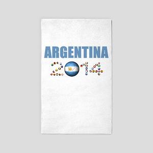 Argentina soccer 3'x5' Area Rug